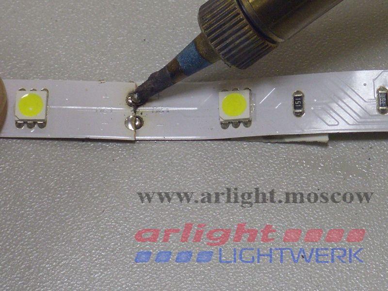 Пайка светодиодной ленты