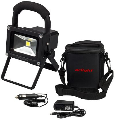 Светодиодный прожектор AR-FLB-10W-4000mAh-KIT White